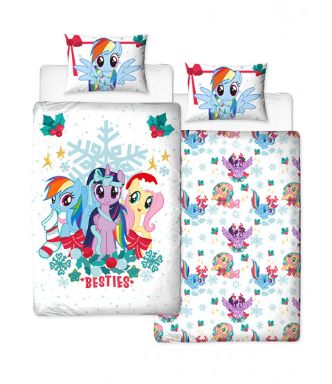 My Little Pony Juego de funda nórdica y funda de almohada Christmas Holly Single