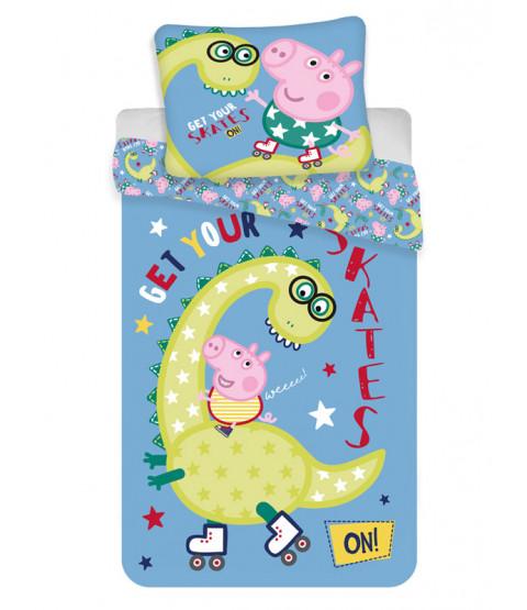 Peppa Pig George Dino Single Duvet Cover Set