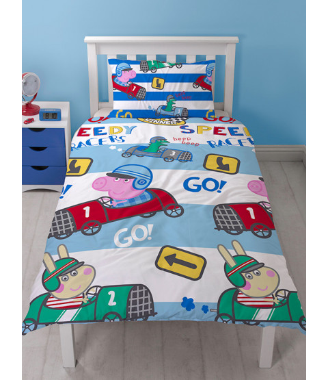 Peppa Pig George Speed Single Rotary Duvet Cover Set