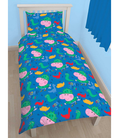 Peppa Pig George Roarsome Single Duvet Cover Bedding Set