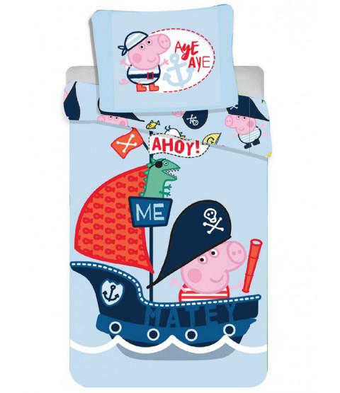 Peppa Pig George Ahoy Single Duvet Cover and Pillowcase Set