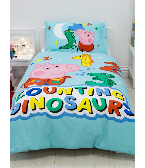 Peppa Pig George Counting 4 in 1 Junior Bedding Bundle (Duvet, Pillow, Covers)