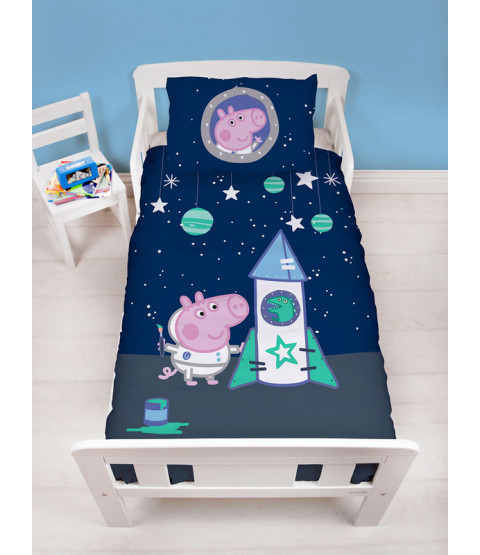 Peppa Pig George Boom 4 in 1 Junior Bedding Bundle (Duvet, Pillow, Covers)