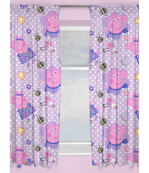 "Peppa Pig Happy Curtains 54"" Drop"