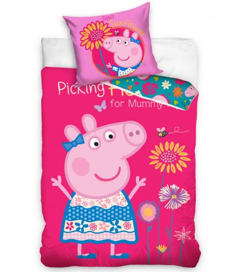 Peppa Pig Flowers Single Duvet Cover Set