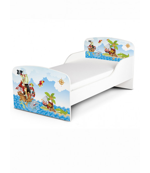 Pirates Toddler Bed with Deluxe Foam Mattress