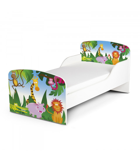 Jungle Toddler Bed plus Foam Mattress
