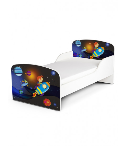 Lettino Space Rocket e materasso in schiuma Deluxe