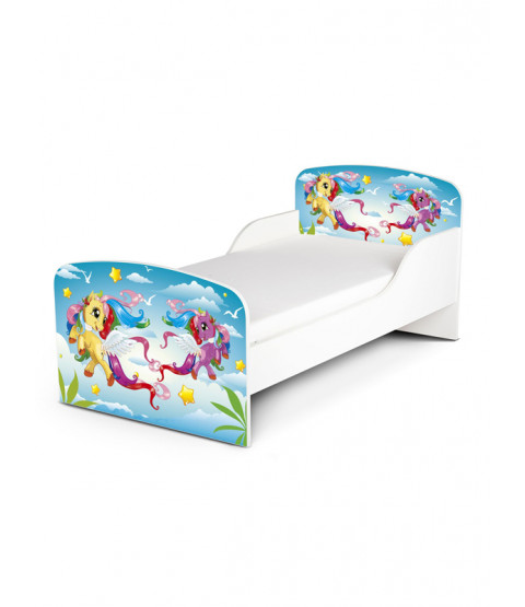 PriceRightHome Magical Pony Toddler Bed Plus Foam Mattress
