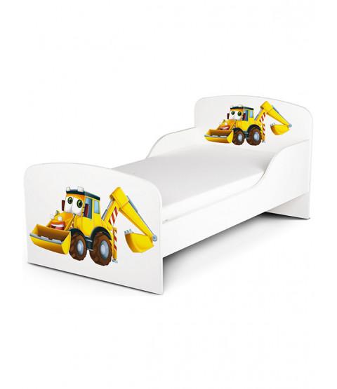 Diggers Toddler Bed plus Deluxe Foam Mattress
