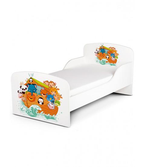 PriceRightHome Noah's Ark Animals Toddler Bed plus Foam Mattress
