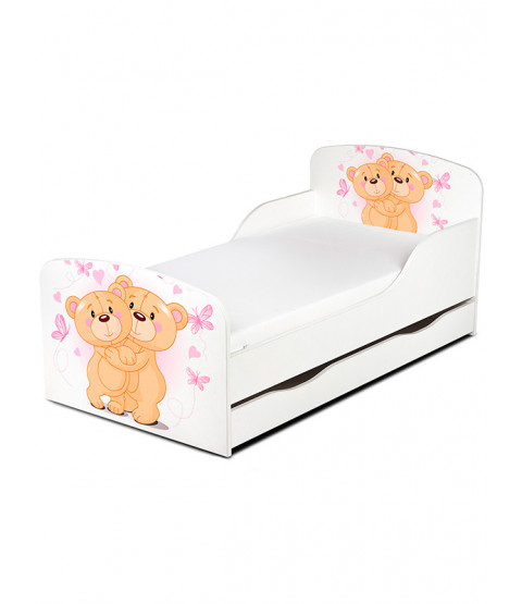 Teddy Bear Hug Toddler Bed with Mattress