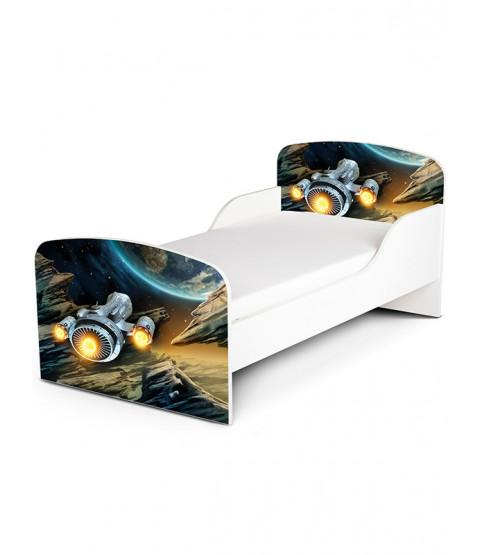 Spaceship Toddler Bed with Mattress