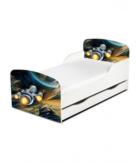 Spaceship Toddler Bed with Mattress
