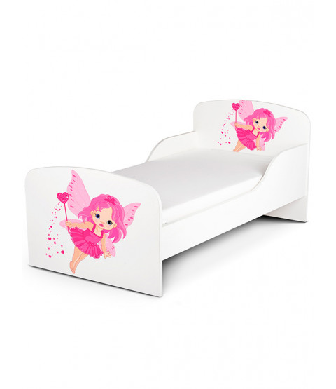 Fairy Dust Toddler Bed with Foam Mattress