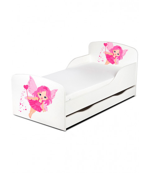 Fairy Dust PriceRightHome Toddler Bed with Underbed Storage