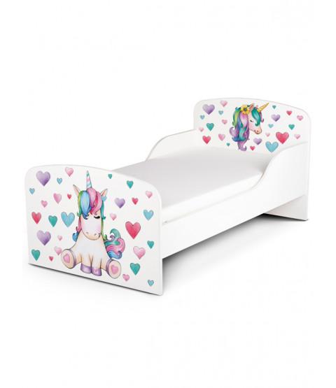 PriceRightHome Unicorn Toddler Bed plus Foam Mattress