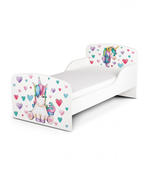 PriceRightHome Unicorn Toddler Bed più Deluxe Foam Mattress