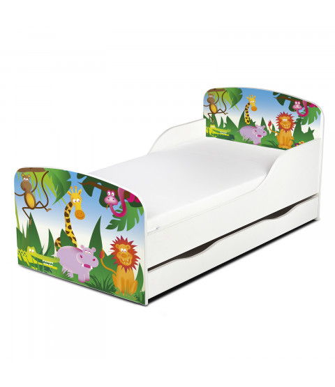 PriceRightHome Jungle Exclusive Design Toddler Bed with Underbed Storage