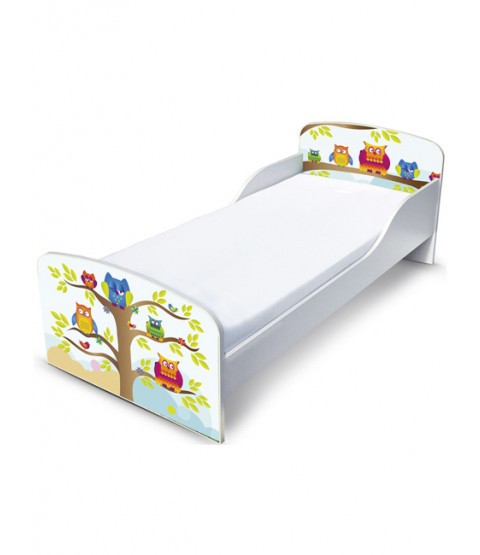PriceRightHome Owls Toddler Bed and Foam Mattress