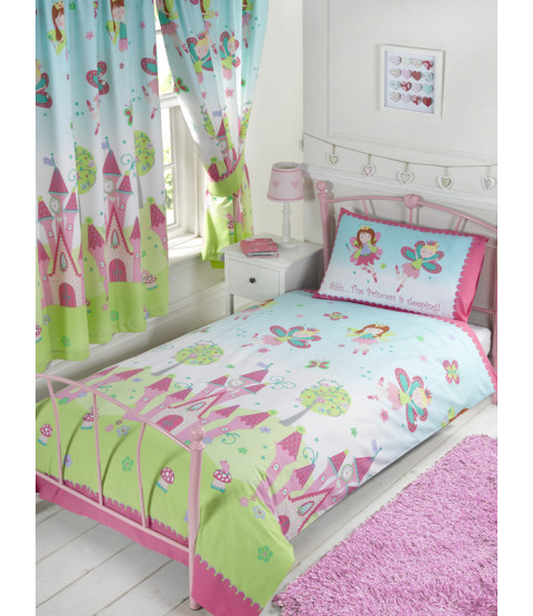 Princess is Sleeping Single Duvet Cover and Pillowcase Set