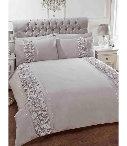 Provence Grey Super King Duvet Cover and Pillowcase Set