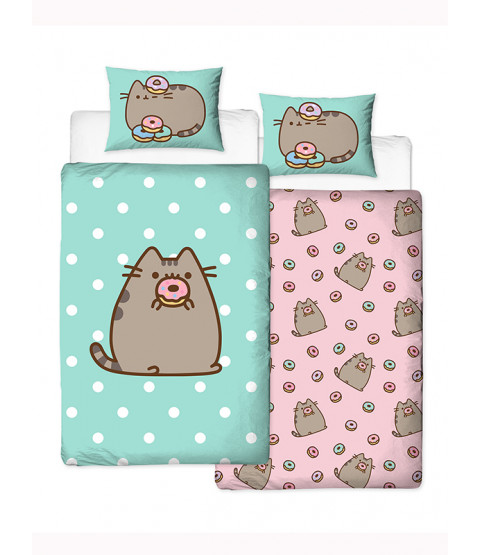 Pusheen Doughnut Single Duvet Cover and Pillowcase Set