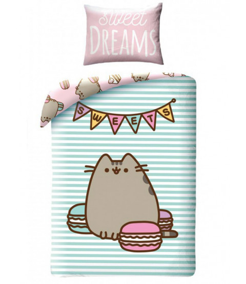 Pusheen Sweets Single Cotton Duvet Cover Set
