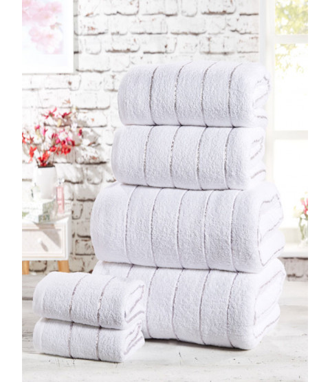 Sandringham 6 Piece Towel Bale White