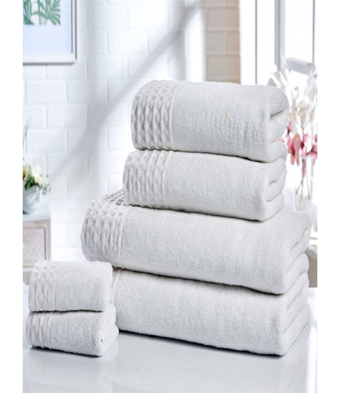 Retreat 6 Piece Towel Bale White