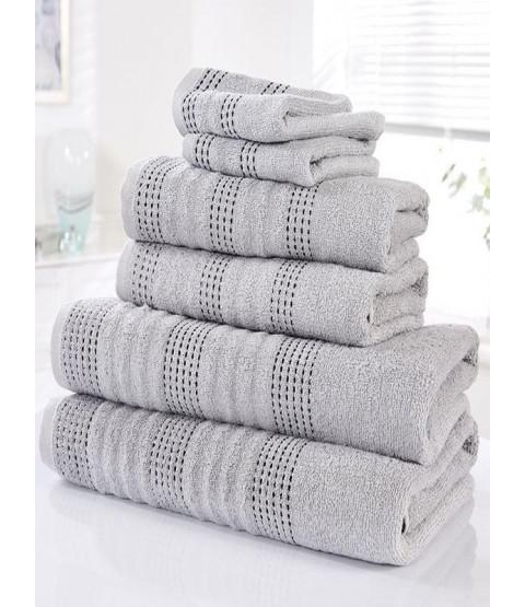 Spa 6 Piece Towel Bale Silver