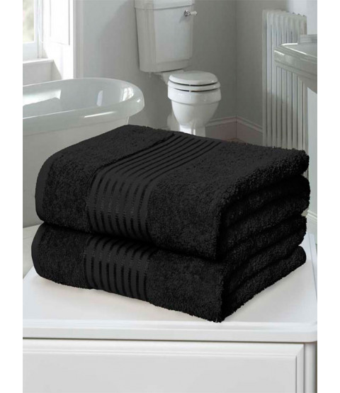 Windsor 2 Piece Towel Bale Black