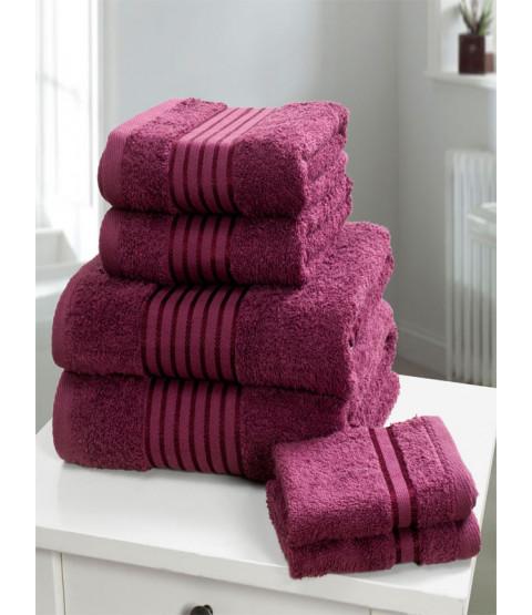 Windsor 6 Piece Towel Bale Plum Zoom   Windsor 6 Piece Towel Bale Plum