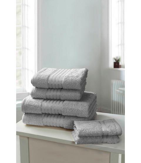 Windsor 6 Piece Towel Bale Silver