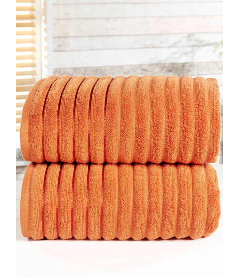 Ribbed Towel 2-PC Spice