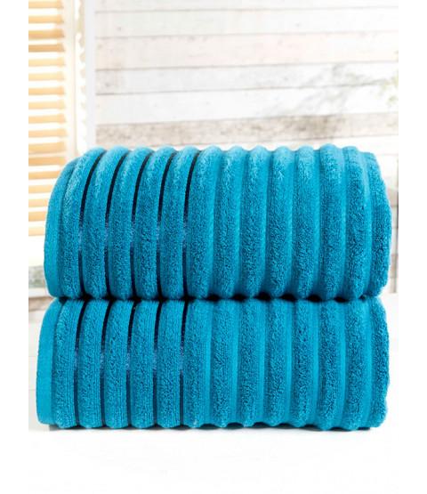 Ribbed Towel 2-PC Teal