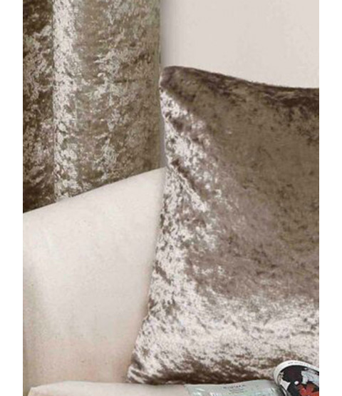 Belle Maison Cushion Cover, Mink- Crushed Velvet Range