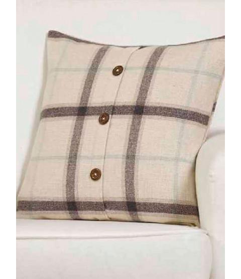 Fodera per cuscino Belle Maison - Plaid Check Range, naturale / crema