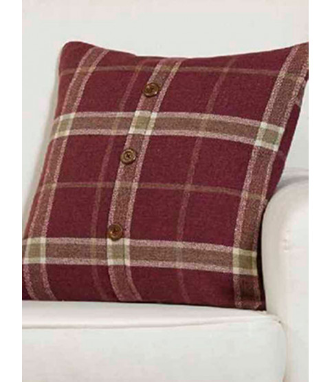 Fodera per cuscino Belle Maison - Plaid Check Range, Raspberry Pink