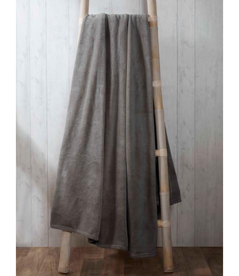 Coral Fleece Blanket 200cm x 240cm - Charcoal