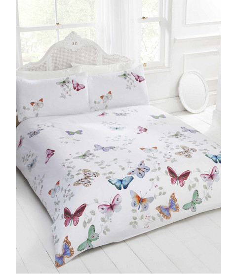 Mariposa Butterfly Single Duvet Cover and Pillowcase Set
