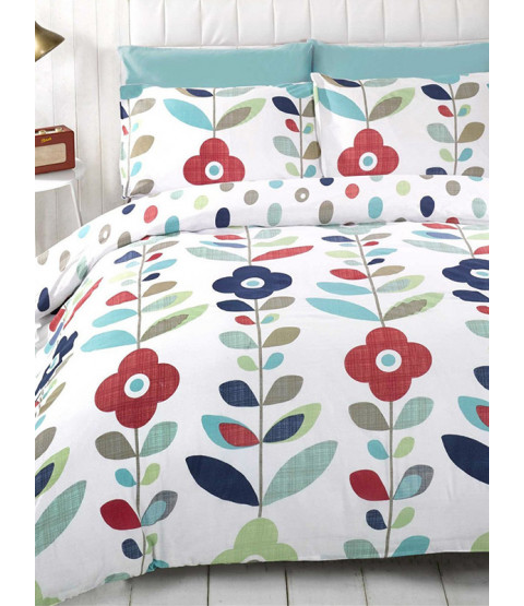 Floral Single Reversible Duvet Cover and Pillowcase Set - Lulu Design