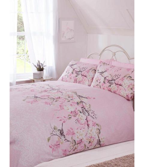 Eloise Floral Juego de cama doble funda nórdica - Rosa