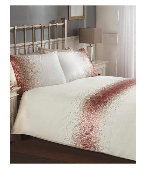 Shimmer Sequin Blush Pink King Size Duvet Cover Set