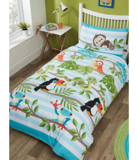 Rainforest Single Duvet Cover and Pillowcase Set
