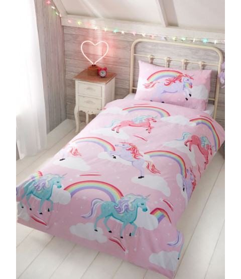 My Little Unicorn Single Duvet Cover and Pillowcase Set