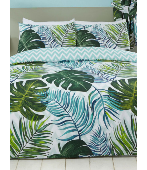 Tropical Palms King Duvet Cover and Pillowcase Set