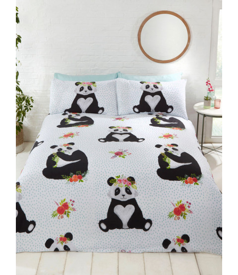 Pandas Double Duvet Cover and Pillowcase Set