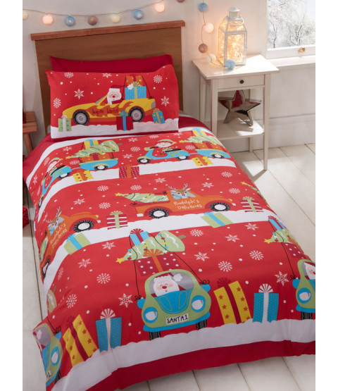 Christmas Delivery Junior Duvet Cover and Pillowcase Set