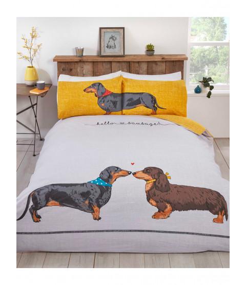 Hello Sausage Single Duvet Cover and Pillowcase Set